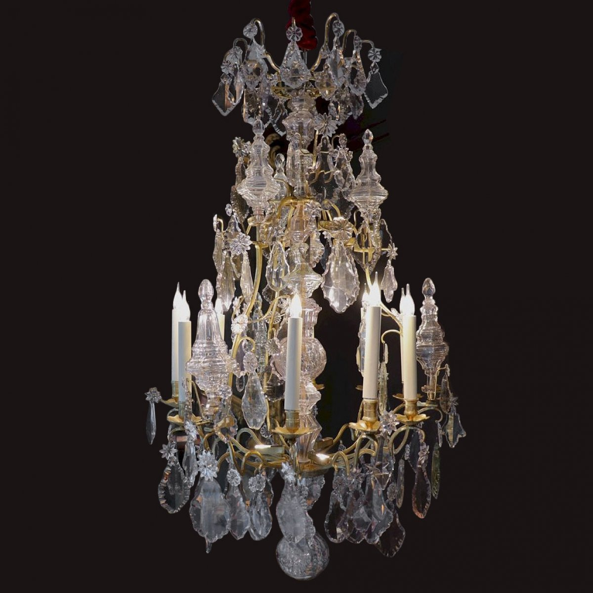lustre pampilles poque louis xv xviiie si cle. Black Bedroom Furniture Sets. Home Design Ideas