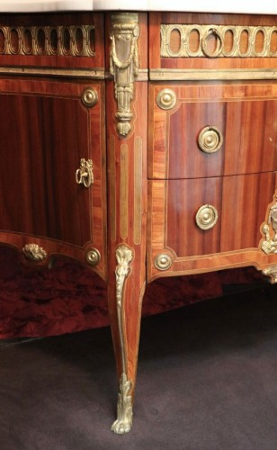 Transition chest of drawers stamped by Charles Topino - Furniture Style Transition