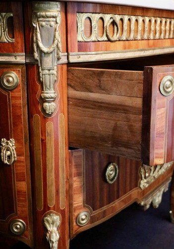 Transition chest of drawers stamped by Charles Topino -