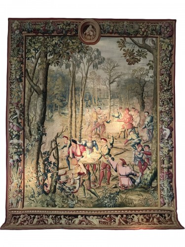 Tapestry of the Manufacture Royale des Gobelins commissioned by Louis XIV