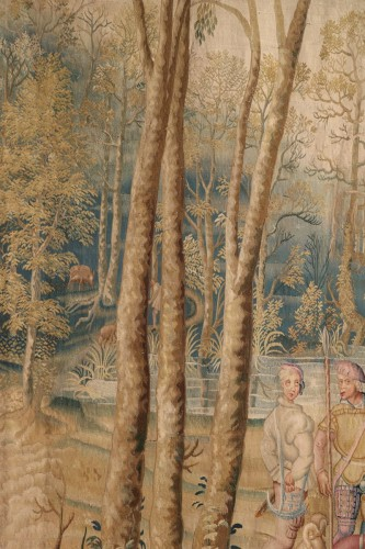 Tapestry of the Manufacture Royale des Gobelins commissioned by Louis XIV - Tapestry & Carpet Style Louis XIV