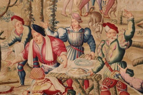 Tapestry of the Manufacture Royale des Gobelins commissioned by Louis XIV -