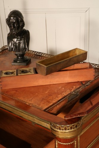 Furniture  - Small Desk With Mechanism Stamped By Georges Kintz