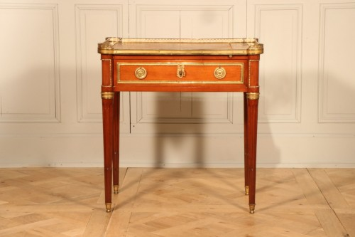 Small Desk With Mechanism Stamped By Georges Kintz -