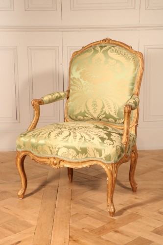 """Set of four """"à la Reine"""" armchairs stamped Tilliard - Seating Style Louis XV"""