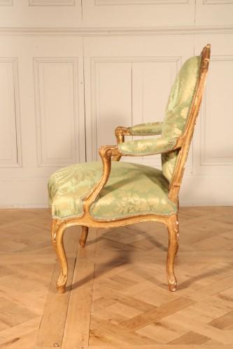 """Set of four """"à la Reine"""" armchairs stamped Tilliard -"""