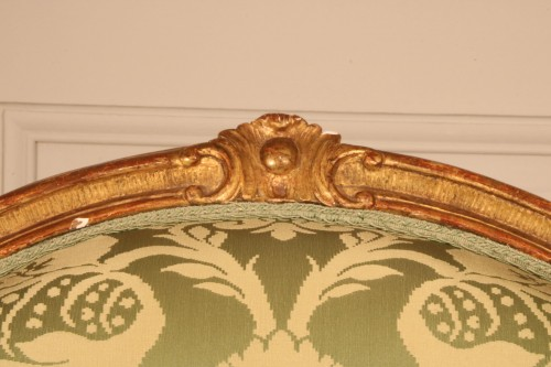 """Antiquités - Set of four """"à la Reine"""" armchairs stamped Tilliard"""