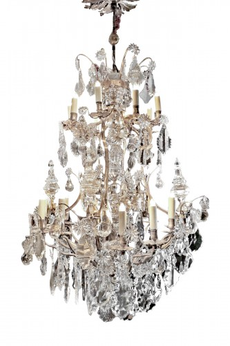 Cage chandelier with twenty lights, Louis XV period