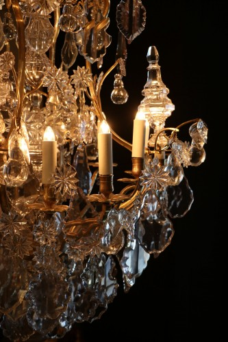 Cage chandelier with twenty lights, Louis XV period - Lighting Style Louis XV