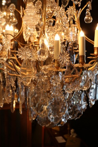18th century - Cage chandelier with twenty lights, Louis XV period