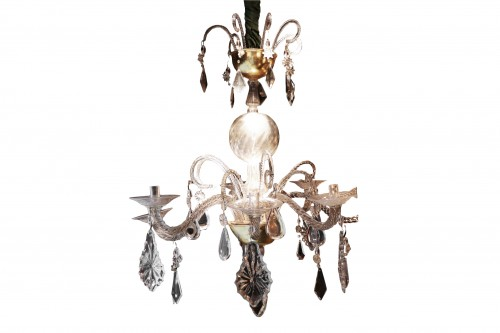 Liège chandelier in crystal and cut glass
