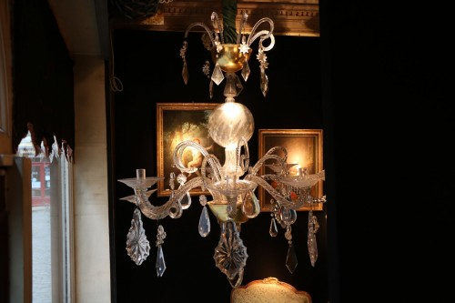 Liège chandelier in crystal and cut glass - Lighting Style