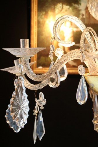 Lighting  - Liège chandelier in crystal and cut glass
