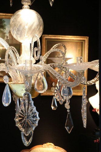 18th century - Liège chandelier in crystal and cut glass