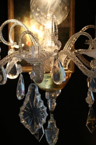 Liège chandelier in crystal and cut glass -
