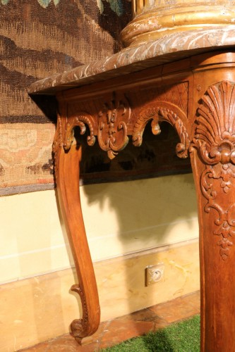 Large Louis XV console table -
