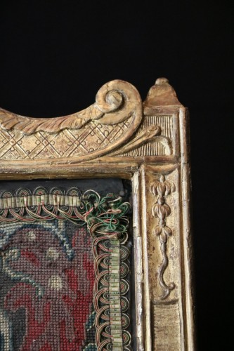 Large fire screen in gilt wood - Furniture Style French Regence