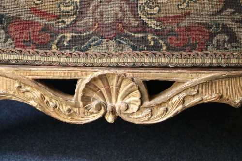 18th century - Large fire screen in gilt wood