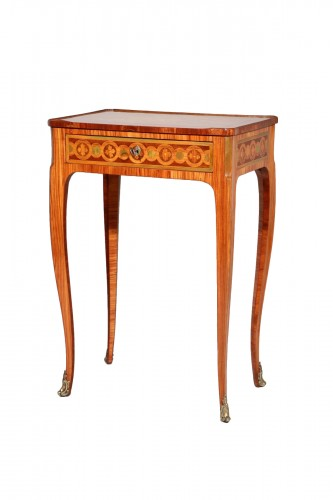 Small inlaid table stamped Nicolas Petit
