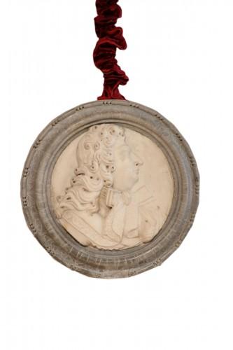 Medallion representing Louis XIV in profile