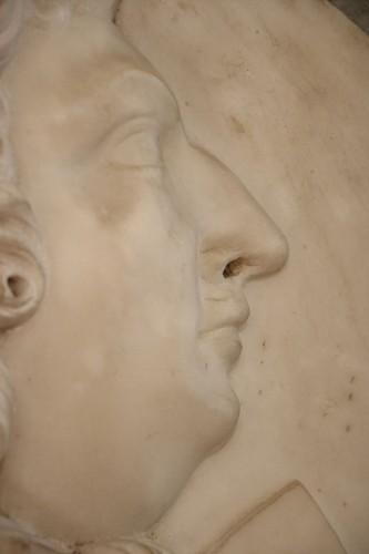 Sculpture  - Medallion representing Louis XIV in profile