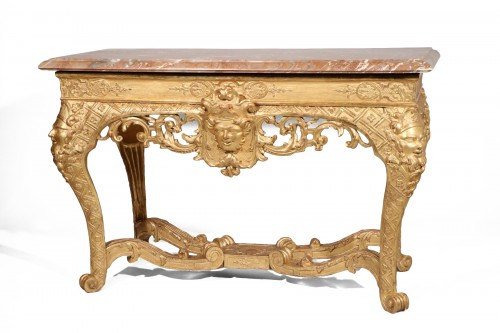 An exceptional console from the Louis XIV period