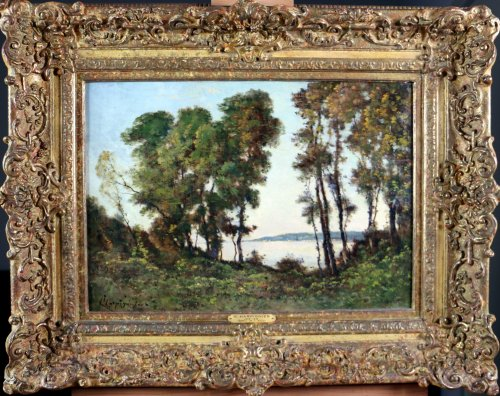 "Henri joseph harpignies ""undergrowth beachfront"""