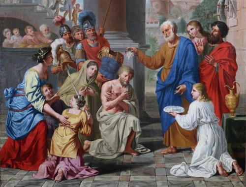 Paintings & Drawings  - Michel ii corneille (1642-1708)-le baptême du centurion corneille par saint pierre