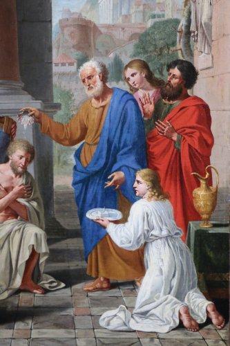 Michel ii corneille (1642-1708)-le baptême du centurion corneille par saint pierre -