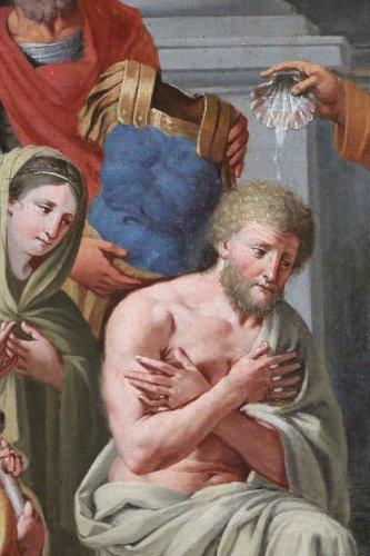 Michel ii corneille (1642-1708)-le baptême du centurion corneille par saint pierre - Louis XIII