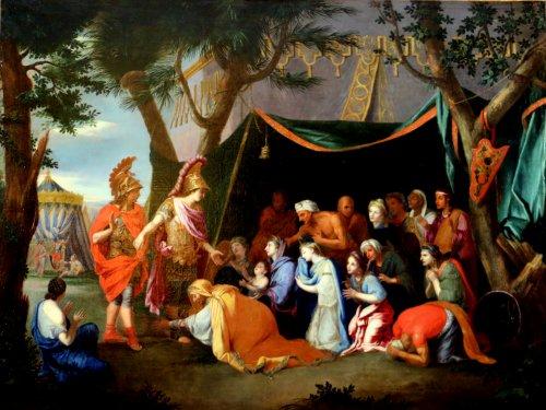 Charles lebrun (1919-1690)-atelier-la tente de darius