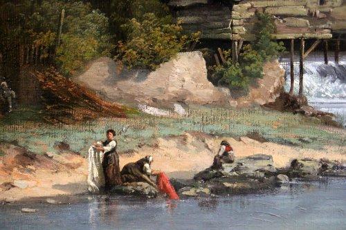Paintings & Drawings  - Les lavandières  - 19th century french school