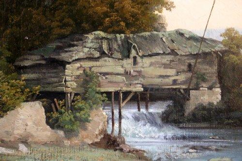 Les lavandières  - 19th century french school -