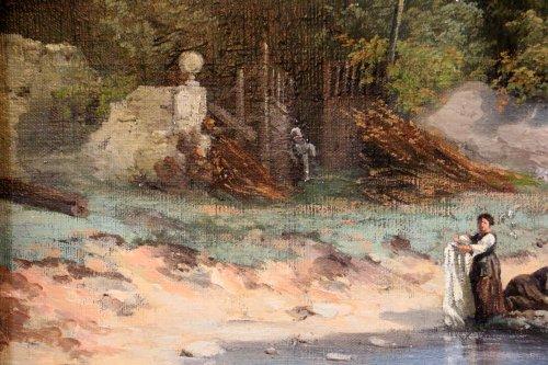 19th century - Les lavandières  - 19th century french school