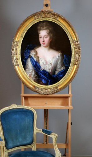Louis XIV - François de troy (1645-1730) atelier-dame de qualité-xviiè