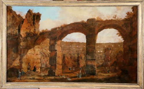 Entourage d'ippolito caffi (1809-1866) the ruins of the colisseum in rome