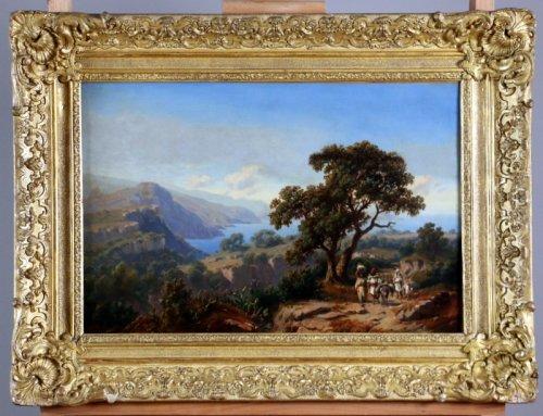 Orientalist canvas signed Curt Grlic (1805-1863)-Algerie 1842