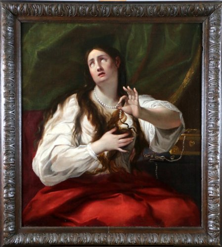 Guido Cagnacci (1601-1663) workshop of - School of Bologne around 1650 - Mary Magdalene