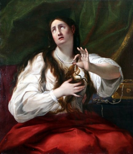 Guido Cagnacci (1601-1663) workshop of - School of Bologne around 1650 - Mary Magdalene - Paintings & Drawings Style Louis XIV