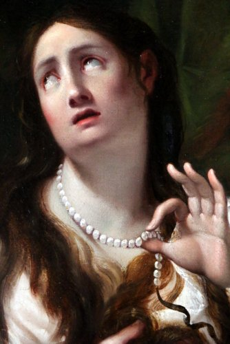 Guido Cagnacci (1601-1663) workshop of - School of Bologne around 1650 - Mary Magdalene -