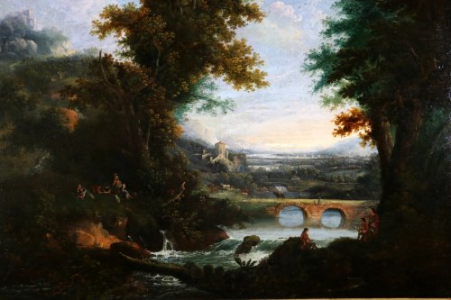 Of Chichester George Smith (1714-1776) landscpae painitng - Paintings & Drawings Style