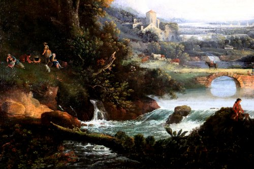 Of Chichester George Smith (1714-1776) landscpae painitng -
