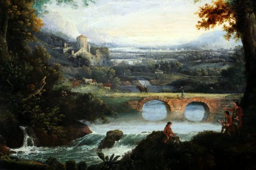 18th century - Of Chichester George Smith (1714-1776) landscpae painitng