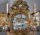 Triptych Central European Or From The Island Of Crete Seventeenth And Eight