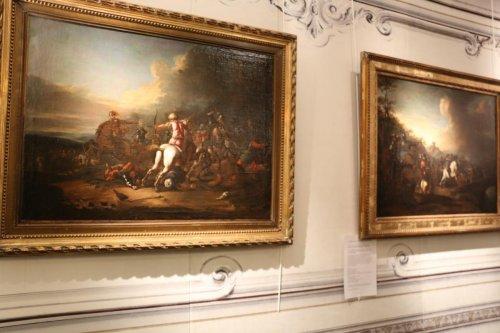 paire de choc de cavalerie du xviie si cle attribu e pandolfo resch 1643 1699. Black Bedroom Furniture Sets. Home Design Ideas