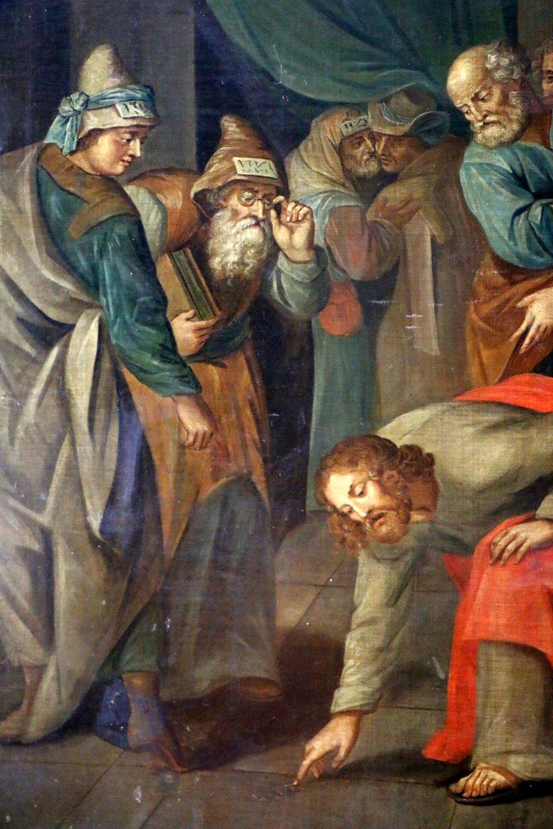 atelier de ambrosius i francken 1544 1618 le christ et la femme adult re xviie si cle n. Black Bedroom Furniture Sets. Home Design Ideas