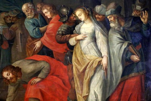Workshop of Ambrosius Francken I (1544-1618) - Christ and the woman adultery - Paintings & Drawings Style Renaissance