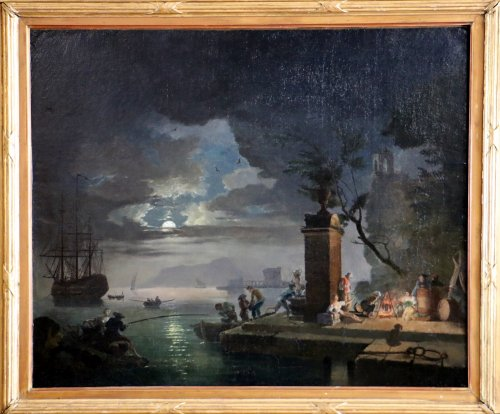 """night Moonlight"" Entourage Of Joseph Vernet (1714-1789)"