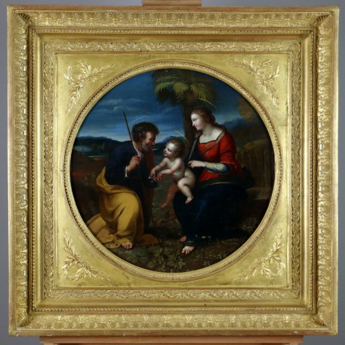 Italian School S17h According Raphael (1483-1520) Holy Family At Palmtree