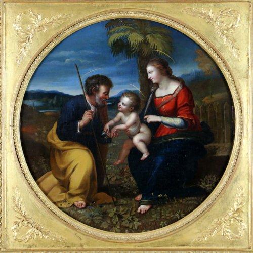 Paintings & Drawings  - Italian School S17h According Raphael (1483-1520) Holy Family At Palmtree